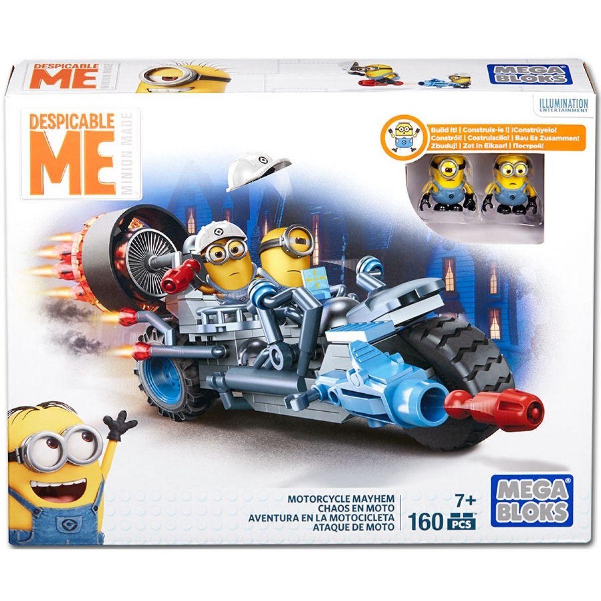 MegaBloks Mimoňové rychlé vozidlo - Chaotická motorka