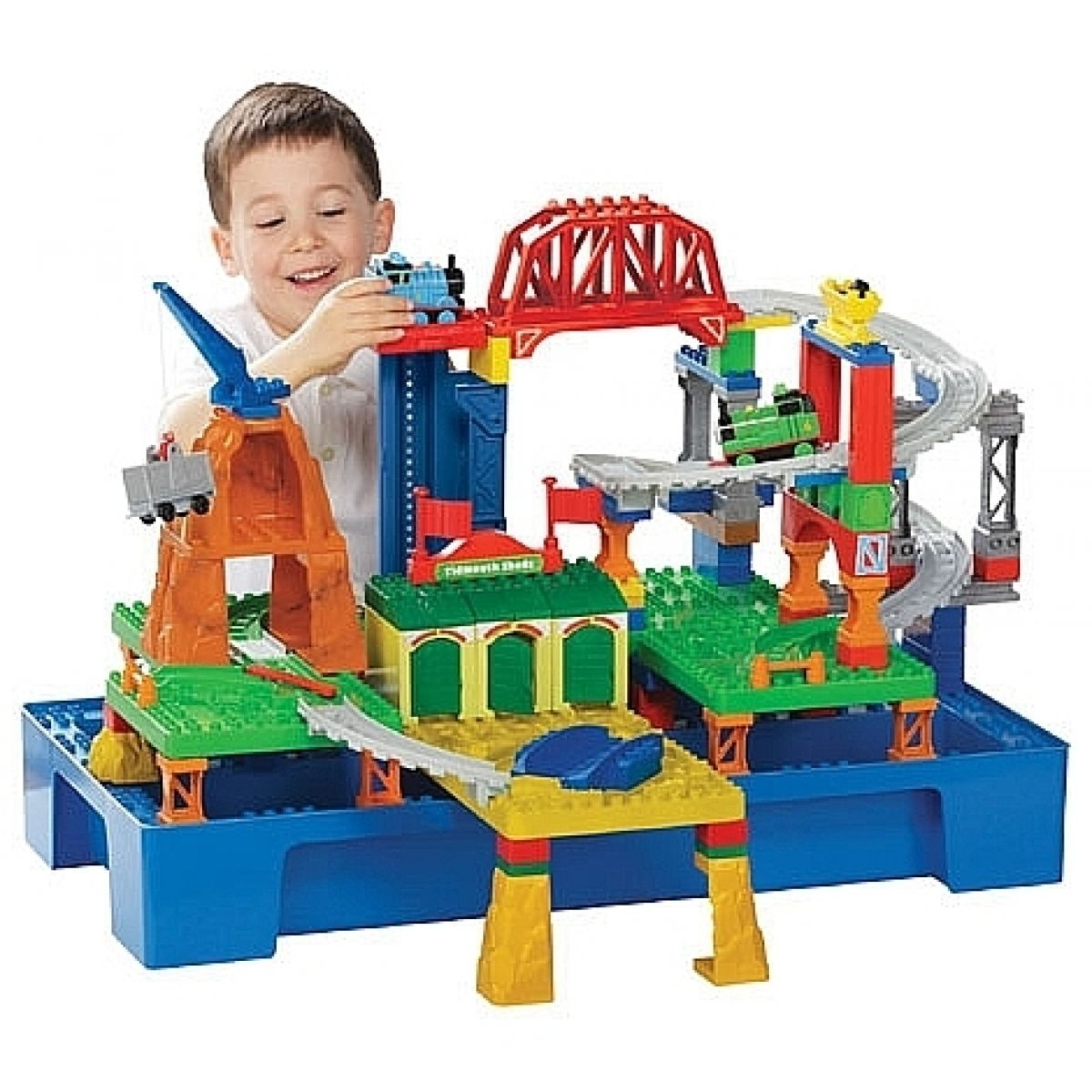 Megabloks Mini - Mašinka Tomáš a přátelé - velký hrací stůl