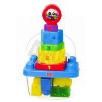 Megabloks Stavebnice s věží z kostek v plastovém kbelíku 3