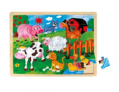 Mertens Puzzle dřevěné Zvířátka na farmě 48 dílků