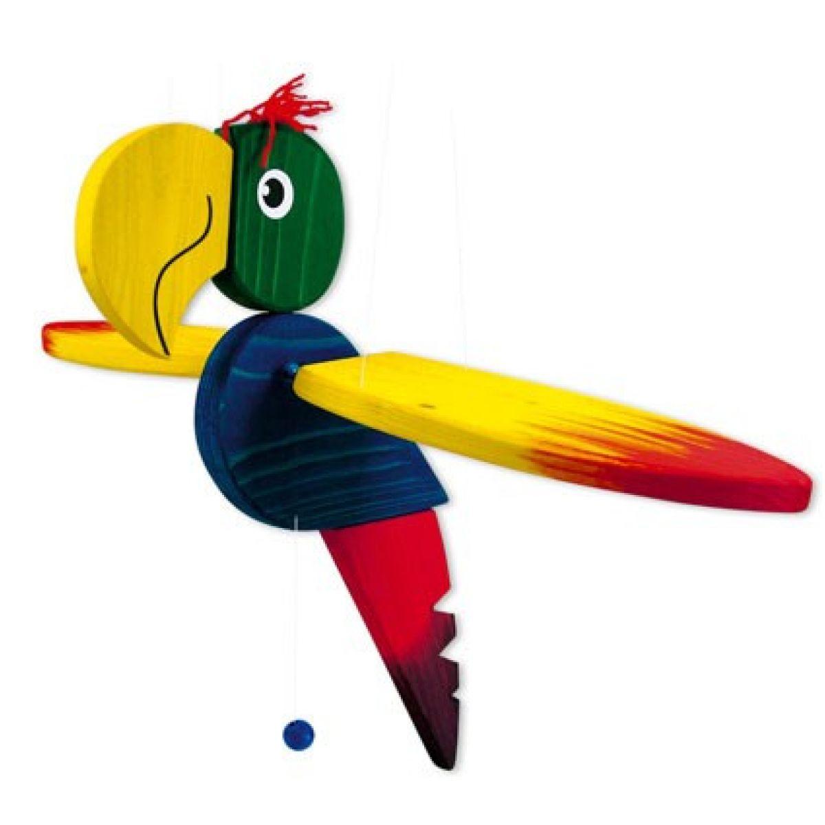 Mertens Dřevěný Papoušek velký