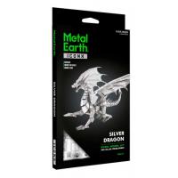 Metal Earth BIG Silver Dragon ICONX 2