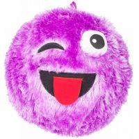 Míč Fuzzy obličej 23 cm fialový