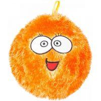 Míč Fuzzy obličej 23 cm oranžový