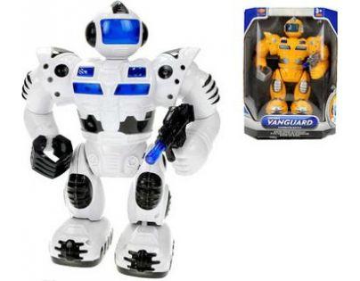 Mikro Robot 29 cm chodící se zvukem a světlem - Bílá