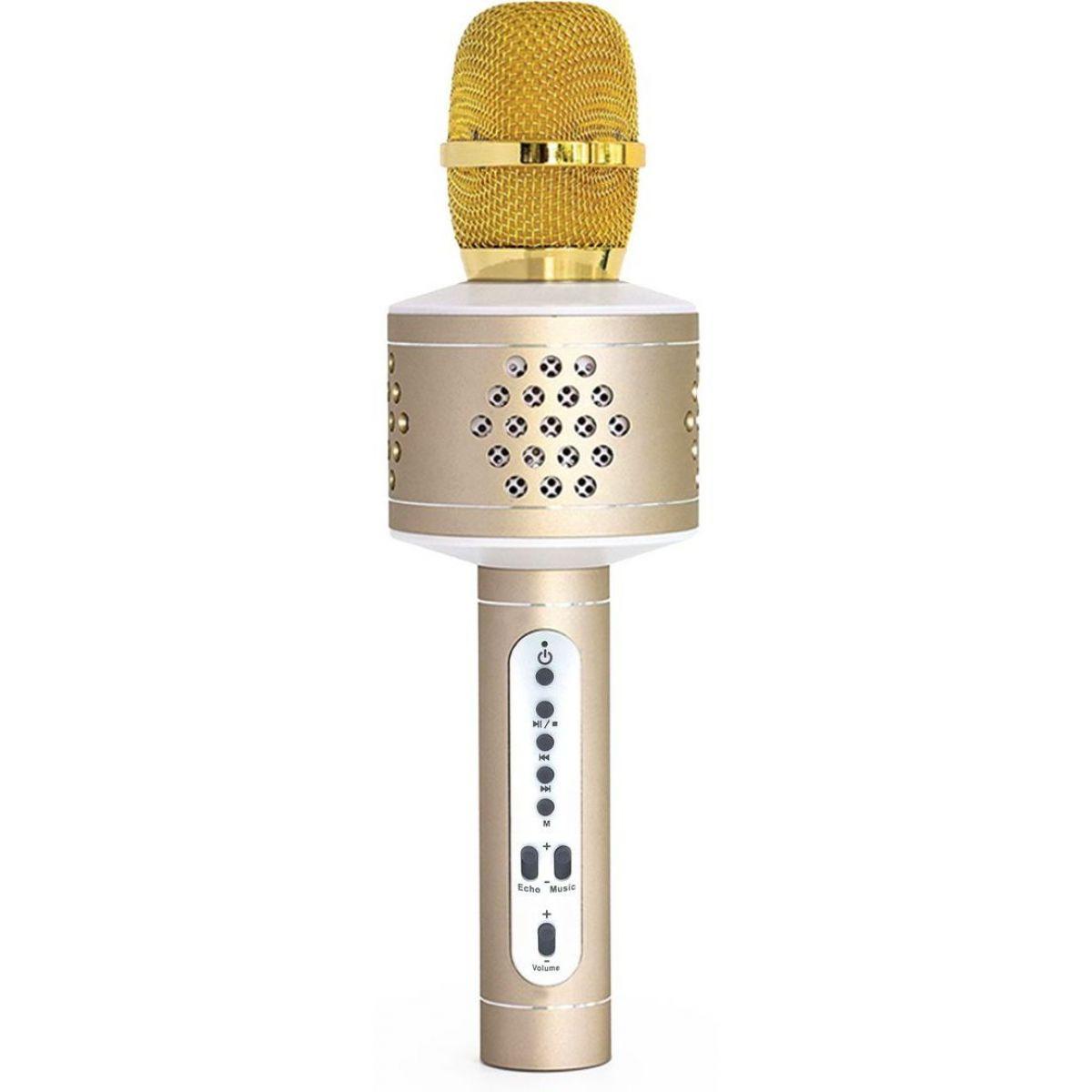 Mikrofon karaoke Bluetooth zlatý
