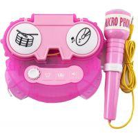 Mikrofon karaoke růžový 0580