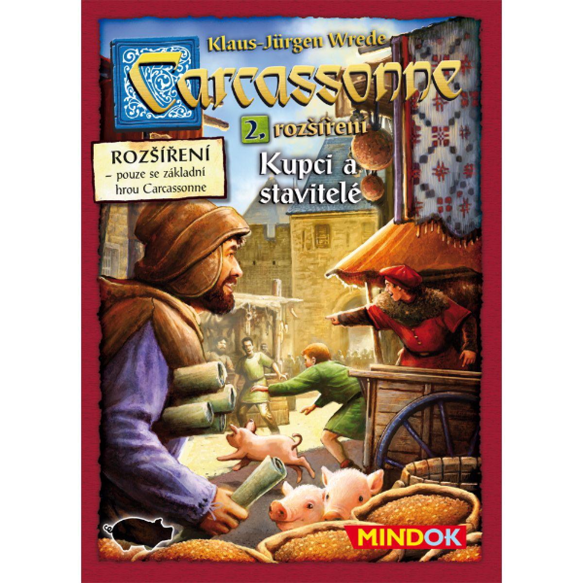 Mindok Carcassonne 2. rozšíření Kupci a stavitelé