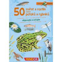 Mindok Expedice příroda 50 zvířat a rostlin potoků a rybníků