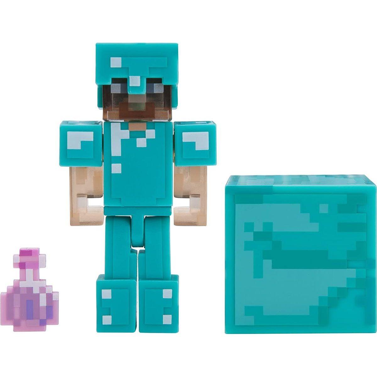 Minecraft figúrka Steve s elixírom neviditeľnosť