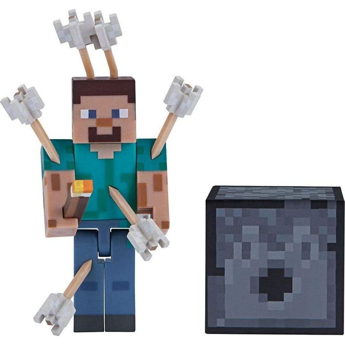 Minecraft figúrka Steve s šípkami