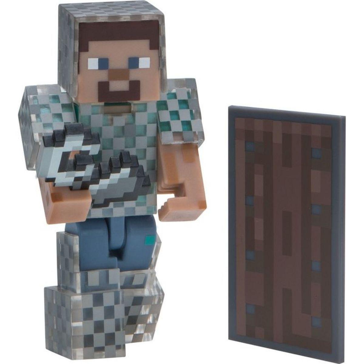 Minecraft figúrka Steve v reťazovej zbrojí