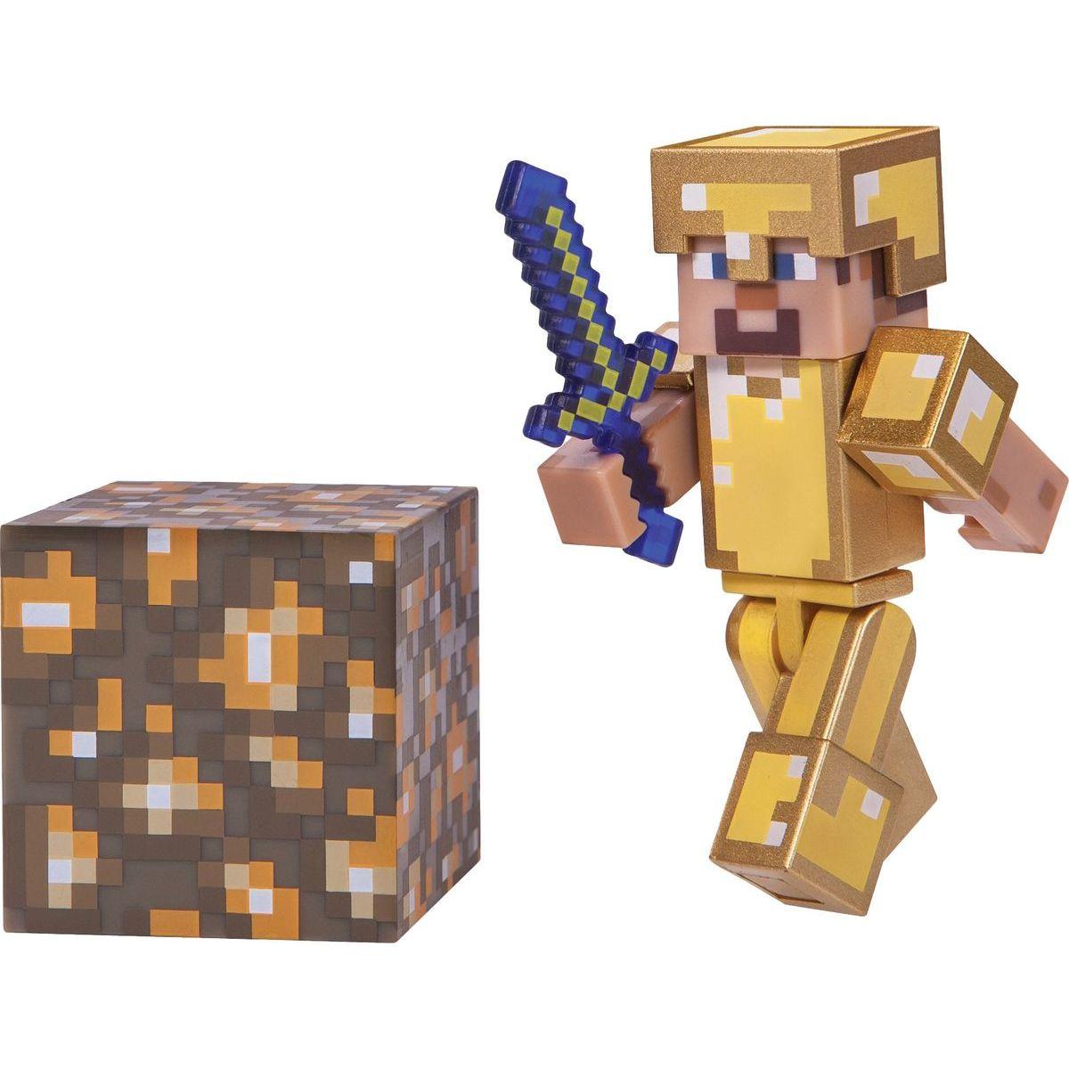 Minecraft zberateľská figúrka Steve v zlatej zbrojí