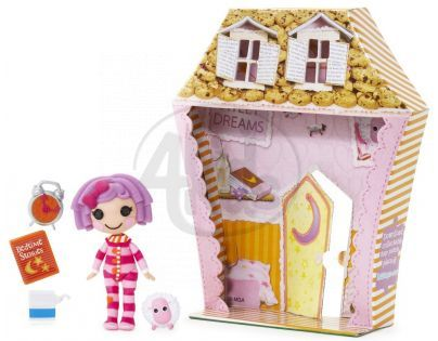 Mini Lalaloopsy Panenka s doplňky a domečkem - Pillow Featherbed