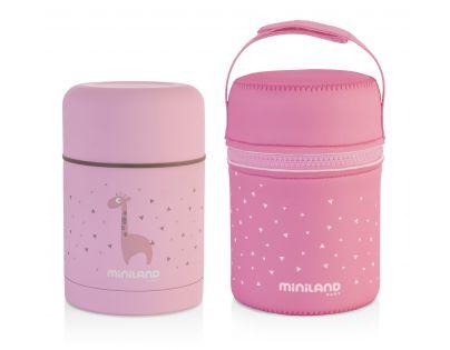 Miniland Termoska Silky na jídlo Pink 600 ml