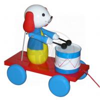 Miva 207-1 - Pes s bubnem dřevo tahací 20 cm