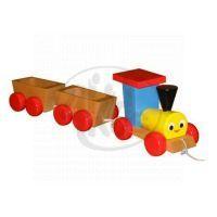 Miva 401-1 - Tahací dřevěný vlak se dvěma vagónky