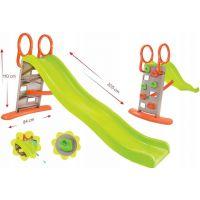 Mochtoys Dětská skluzavka s lezeckou stěnou 205 cm 3