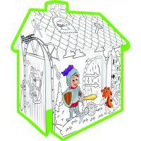 Mochtoys Vybarvovací domeček papírový Rytíři