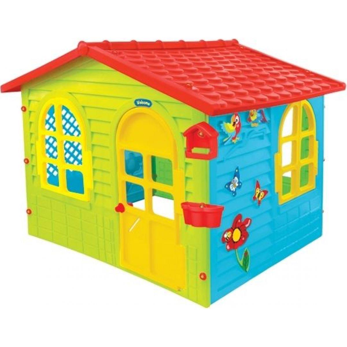 Mochtoys Zahradní domek červená střecha