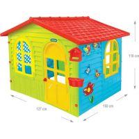 Mochtoys Zahradní domek červená střecha 2