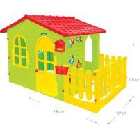 Mochtoys Zahradní domek s plotem a krmítkem 3