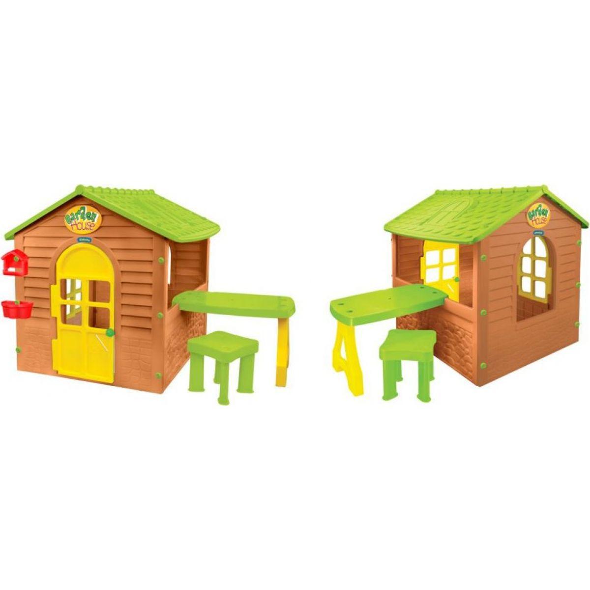 Mochtoys Zahradní domek se stolečkem a stoličkou