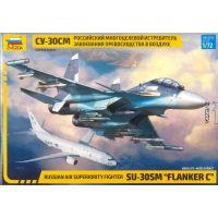 Zvezda Model Kit letadlo Sukhoi SU-30 SM Flanker C 1:72