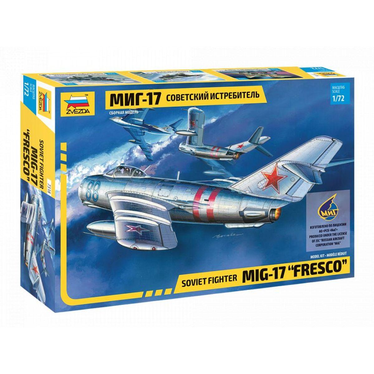 Zvezda Model Kit letadlo MIG-17 Fresco 1:72