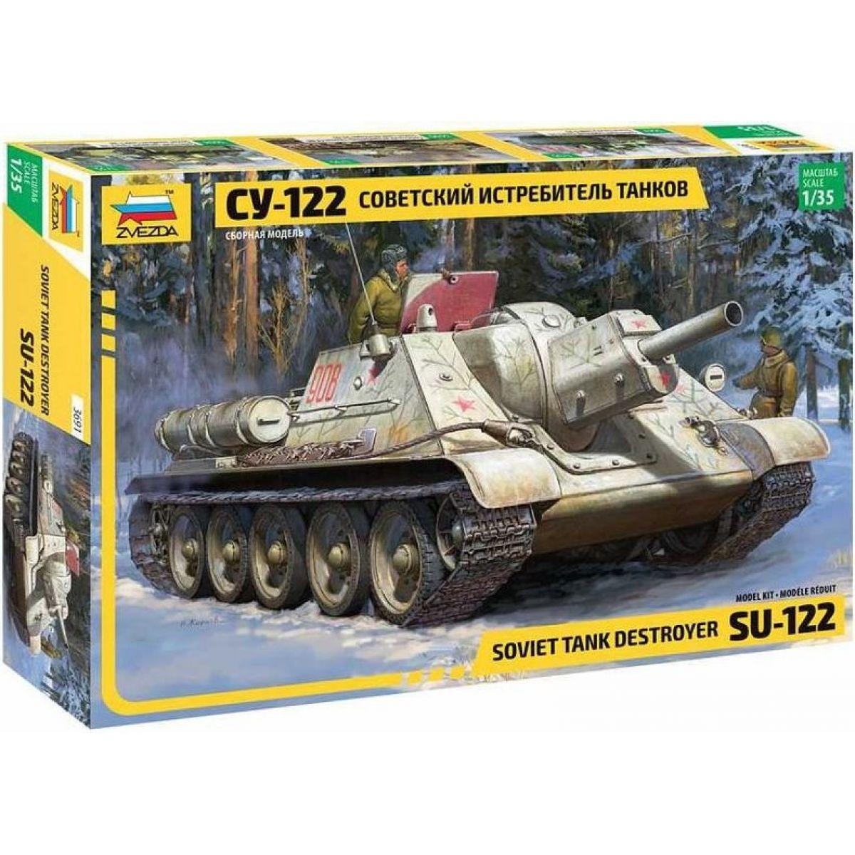 Zvezda Model Kit military Soviet tank Destroyer SU-122 1:35