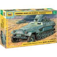 Zvezda Model Kit tank Sd.Kfz.251 10 w 3.7cm PAK RR 1:35