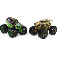 Monster Jam Sběratelská auta dvojbalení 1:64 Grave digger a Max-D