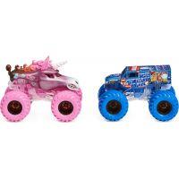 Monster Jam Sběratelská auta dvojbalení 1:64 Sparkle Smash a Ice Cream Man
