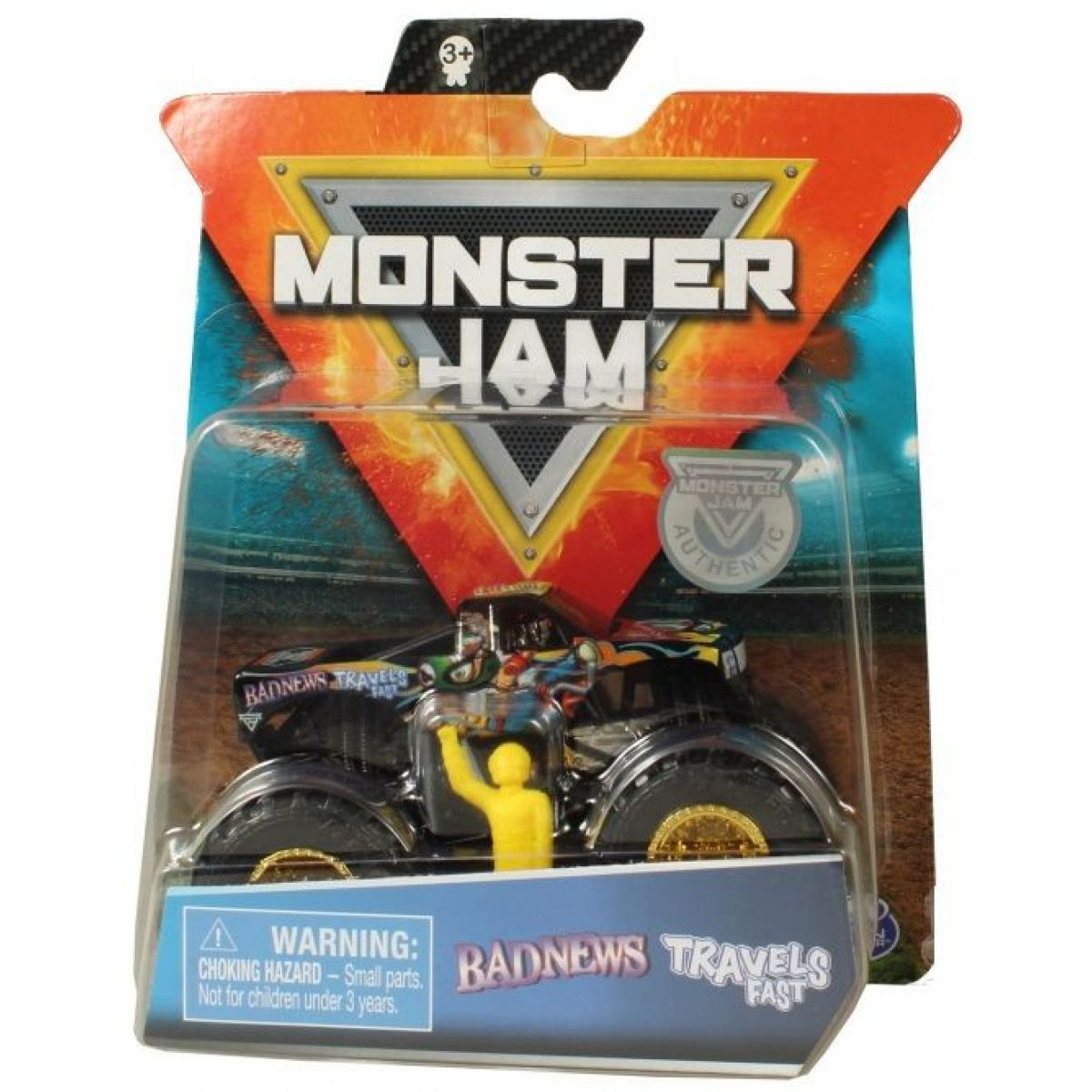 Monster Jam Sběratelská Die-Cast auta 1:64 Badnews Travels Fast