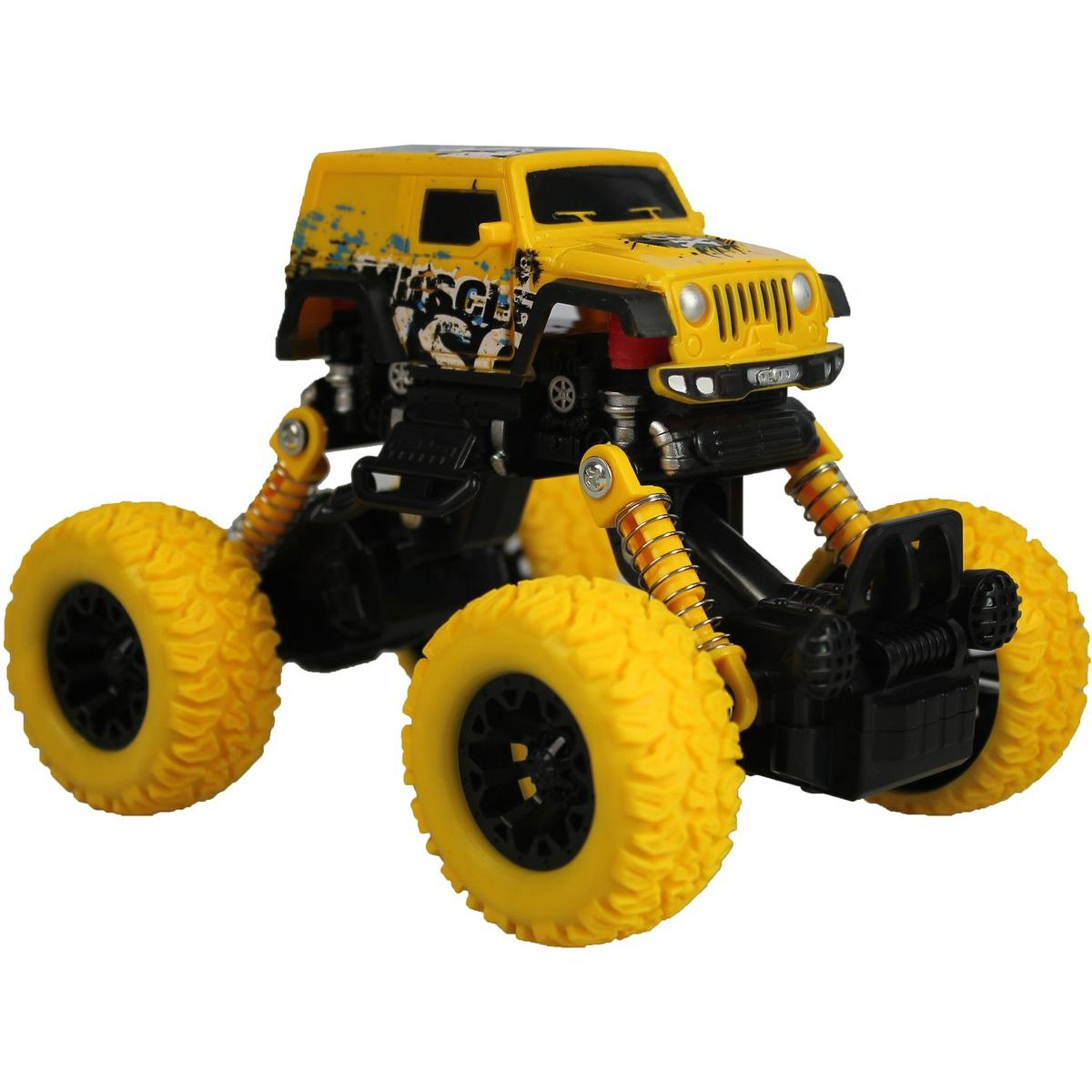 HM Studio Monster pull back auto 1:43 žlutý
