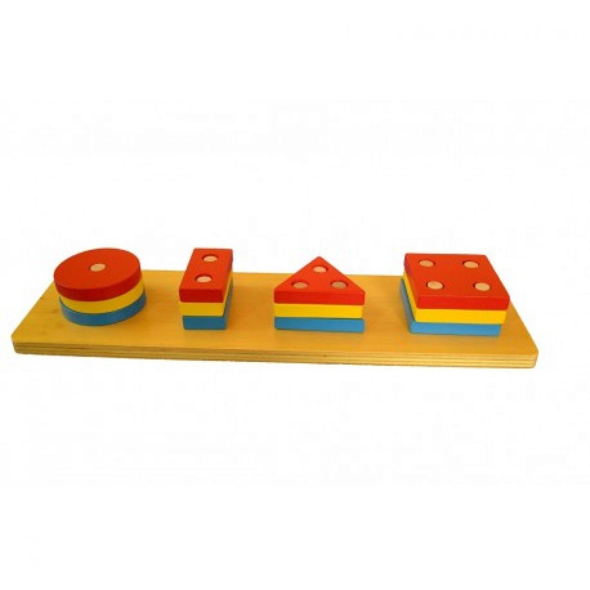 Montessori Barevné geometrické tvary Třídění