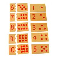 Montessori Čísla a puntíky Puzzle