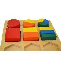 Montessori Geometrický tác 3