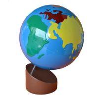 Montessori Glóbus Barevné kontinenty
