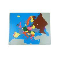 Montessori Puzzle Mapa Evropa bez rámečku