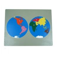 Montessori Puzzle Mapa Světa bez rámečku - Poškozený obal