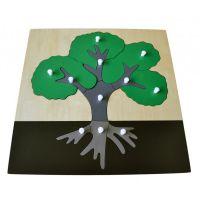 Montessori Vkládací puzzle Strom