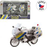 Motorka policajný kovová CZ 18 cm