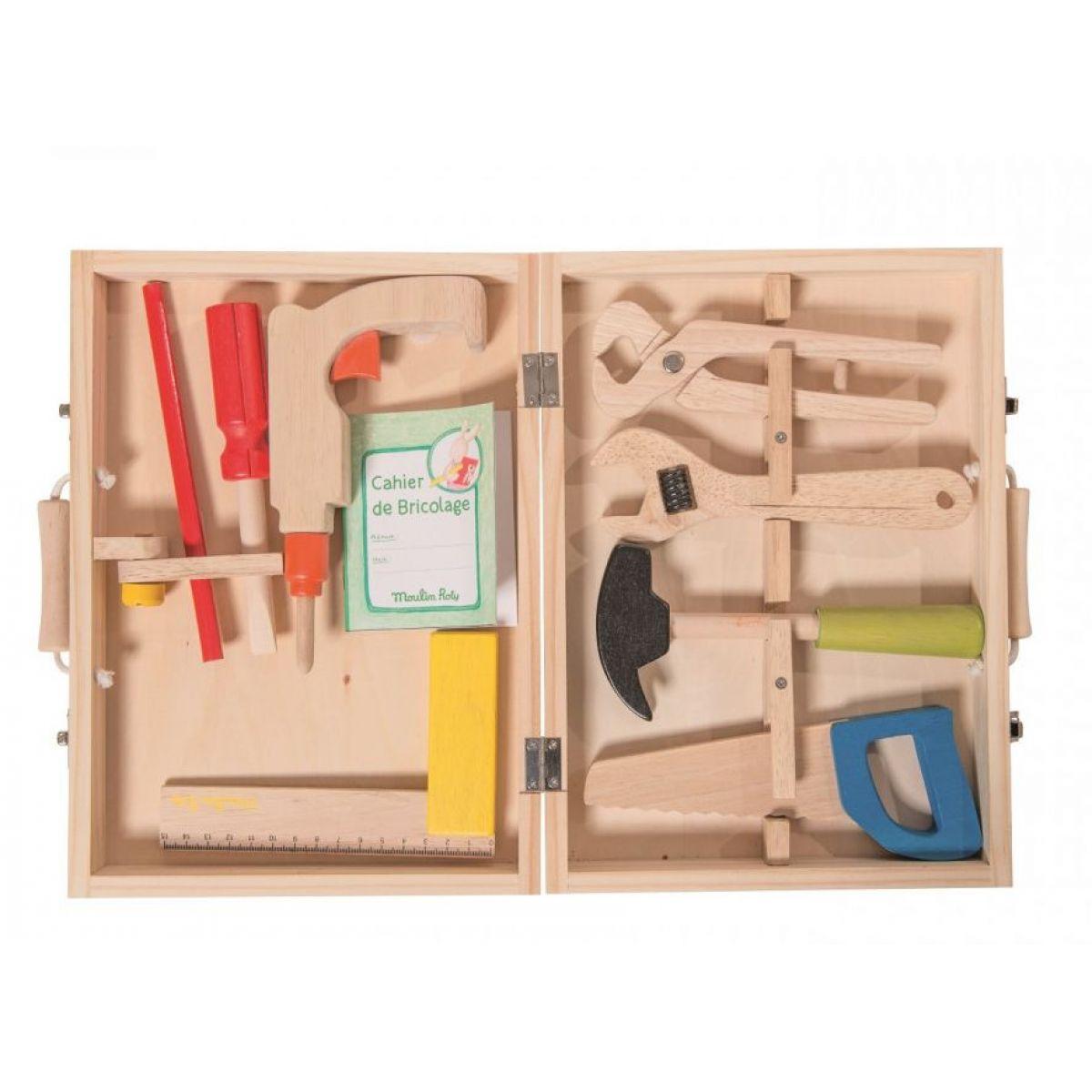 Moulin Roty Dřevěné nářadí v krásném kufříku
