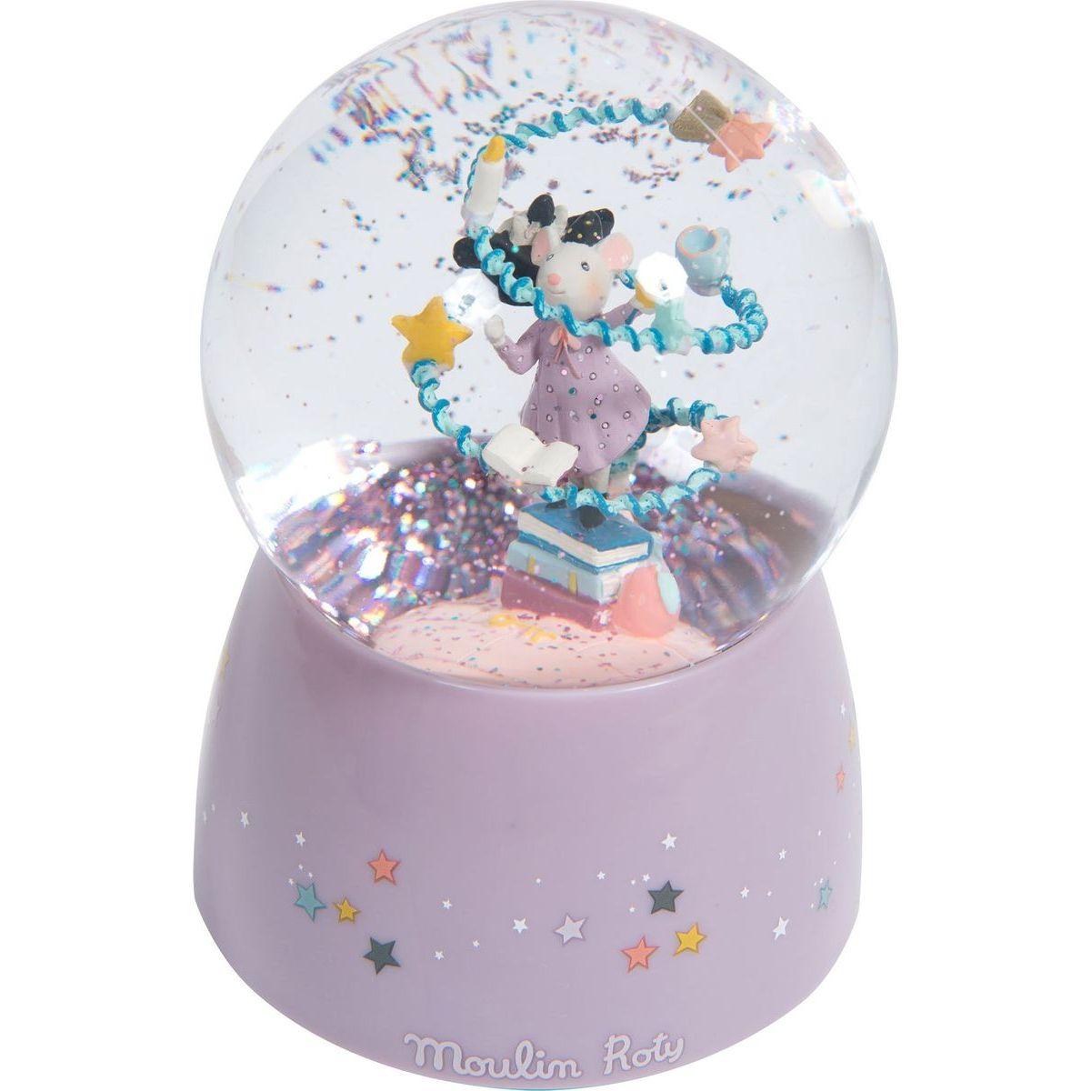 Moulin Roty Hudební sněžítko Myška kouzelnice