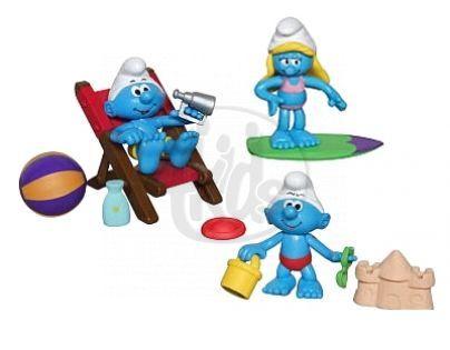 EP Line Šmoulové sada 3 figurky s doplňkem - Pláž