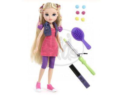 Moxie Girlz Magické vlasy s barevnými sponkami - Avery
