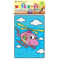 Anděl Mozaika Dopravní prostředky 23 x 16 cm Vrtulník