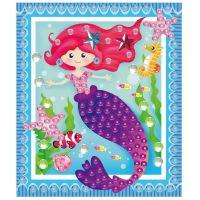 Anděl Anděl Mozaika se třpytivými flitry holčičí 20,5 x 17 cm Mořská panna