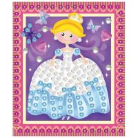 Anděl Mozaika se třpytivými flitry holčičí 20,5 x 17 cm Princezna